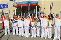 Первый этап эстафеты олимпийского огня: Пролетарский район, Фото: 2