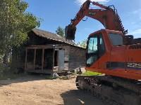 В Плеханово сносят незаконно построенные дома, Фото: 1