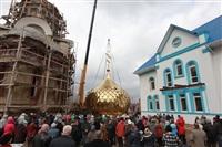 Освящение креста купола Свято-Казанского храма, Фото: 22