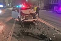 Ночью в Туле водитель легковушки врезался в реанимацию, Фото: 3