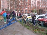 Субботник во дворе дома №19 по ул. Кирова, Фото: 6
