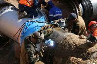 Как ведется монтаж водовода, питающего водой Пролетарский округ Тулы. Фото, Фото: 2