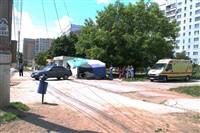 В Туле легковушка протаранила торговую палатку, Фото: 9