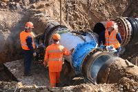 Как ведется монтаж водовода, питающего водой Пролетарский округ Тулы. Фото, Фото: 32