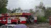 В Ясногорске сгорел продуктовый магазин. 16 мая 2015, Фото: 9