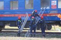 Горящий поезд: учения МЧС 23 сентября , Фото: 5
