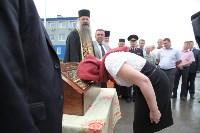 Сотрудники ОМОН поклонились мощам святого великомученика Георгия Победоносца, Фото: 28