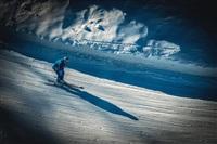 """Волонтер на олимпийской трассе на территории горнолыжного курорта """"Роза Хутор"""" в Адлеровском районе Сочи., Фото: 12"""
