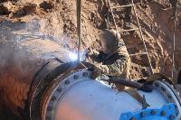Как ведется монтаж водовода, питающего водой Пролетарский округ Тулы. Фото, Фото: 20
