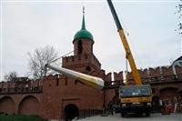 Утром 15 ноября в Тулу привезли шпиль для колокольни Успенского собора, Фото: 11