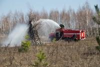 В Белевском районе провели учения по тушению лесных пожаров, Фото: 10