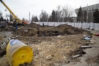 На Крестовоздвиженской площади Тулы обнаружено кладбище 18 века, Фото: 1