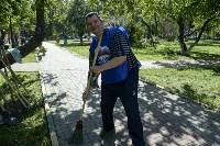 Субботник в Пролетарском округе Тулы, Фото: 93
