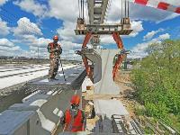 Восточный обвод: Строительство моста через Упу, Фото: 15