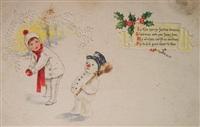 Старинные рождественские открытки, Фото: 41