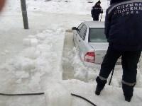 """В Туле вмерзла в лед """"Лада"""", Фото: 5"""