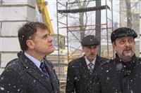 Губернатор посетил строящийся в Богородицке ФОК. 1 апреля 2014, Фото: 4
