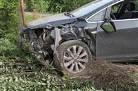 """В Туле """"Opel"""" перелетел бордюр и протаранил припаркованный """"Infiniti"""", Фото: 9"""
