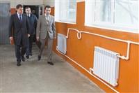 Губернатор посетил строящийся в Богородицке ФОК. 1 апреля 2014, Фото: 8