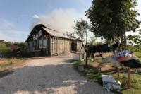 С огнем в жилом доме в селе Теплое боролись три пожарных расчета, Фото: 3