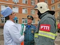 Учения МЧС: В Тульской областной больнице из-за пожара эвакуировали больных и персонал, Фото: 25