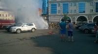 """Возле ТЦ """"Утюг"""" сгорела легковушка, Фото: 4"""