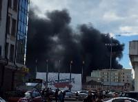 Загорелся недостроенный ТЦ на Красноармейском проспекте, Фото: 6