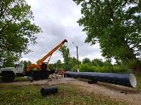 В Туле меняют аварийный участок трубы, из-за которого отключали воду в Пролетарском округе, Фото: 7
