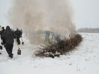 Тульские огнеборцы ликвидировали условное  возгорание в селе Прудное, Фото: 13