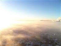 Необычные клубы дыма над заводом. Косая Гора, 21 января 2014, Фото: 9