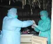 Сотрудники МЧС и Роспотребнадзора учились ликвидировать очаг сибирской язвы, Фото: 18