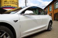 белая Tesla, Фото: 2