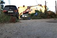 """В Туле """"Opel"""" перелетел бордюр и протаранил припаркованный """"Infiniti"""", Фото: 8"""