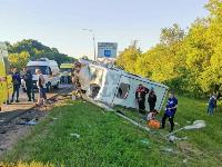 В Тульской области фура влетела в автобус: перекрыта трасса М-2, Фото: 6