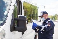 Полицейский рейд в тульских маршрутках: на пассажиров без масок составляют протоколы, Фото: 22