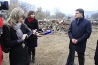 16 октября Владимир Груздев проконтролировал ход работ по благоустройству набережной, Фото: 6