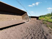 В Тульской области грузовой поезд сошел с рельсов, Фото: 15