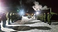 Тульские военнослужащие ВДВ окунулись в прорубь на Крещение, Фото: 5