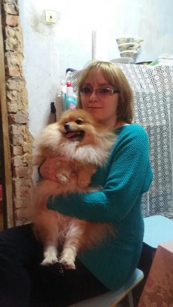 Я с любимым пёсиком!Зовут нашего любимца Чарли.