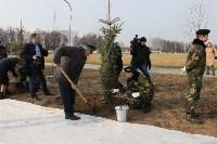 Возле мемориала «Защитникам неба Отечества» высадили еловую аллею , Фото: 21