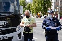 Полицейский рейд в тульских маршрутках: на пассажиров без масок составляют протоколы, Фото: 9
