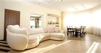 Гостиная. В центре комнаты – огромный диван, а позади него – вход в зимний сад., Фото: 5