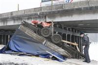 ДТП с участием «Газели» мосту через реку Воронку. 13 февраля 2014, Фото: 2