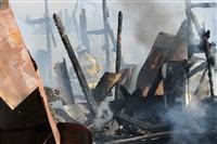 Пожар в цехе производства гробов на Веневском шоссе в Туле, Фото: 6