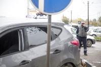 На Рязанском шоссе «Хёндэ» столкнулась с микроавтобусом, Фото: 1