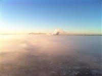 Необычные клубы дыма над заводом. Косая Гора, 21 января 2014, Фото: 10