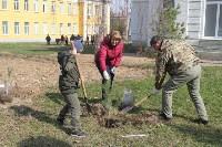 3200 кустов и деревьев высадили сегодня в Туле в ходе субботника, Фото: 11