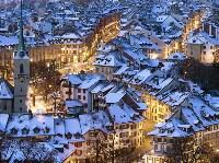 Заснеженный Берн, Швейцария. Peter Klaunzer, EPA, Фото: 14