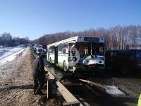 Авария на трассе Тула-Щекино, 10 февраля 2020, Фото: 1