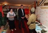 Учащиеся Волхонщинской средней школы показали Алексею Дюмину школьный музей боевой славы, Фото: 18